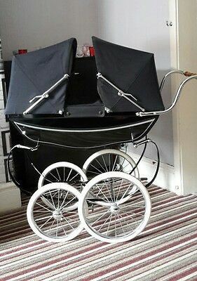 silver cross collectable twin dolls pram
