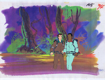 The Real Ghostbusters Original Production Animation Cel & Copy Bkgd #A21831