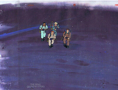 The Real Ghostbusters Original Production Animation Cel & Copy Bkgd #A21835