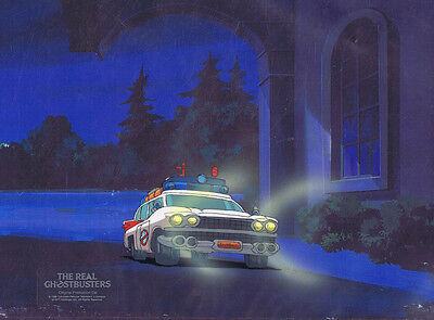 The Real Ghostbusters Original Production Animation Cel & Copy Bkgd #A21838
