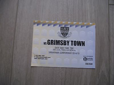 2014-15 Eastleigh v Grimsby Town -  Conference  -  Used ticket stub