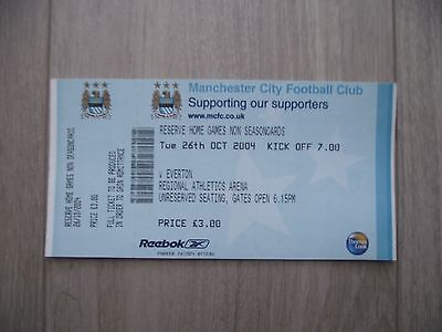 2004-05 Manchester City v Everton  - RESERVE match -  Used ticket stub