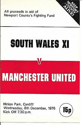 76/77 South Wales XI v Man Utd ~ Benefit for Newport County on 8th Dec 1976