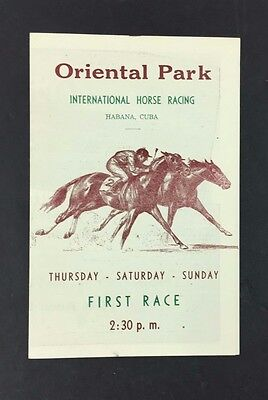 03/21/1953 Horse Racing program Oriental Park Havana Cuba 8 Race Card Vintage