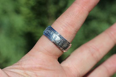 Meteorite Jewelry Meteorite ring 353 HALF band