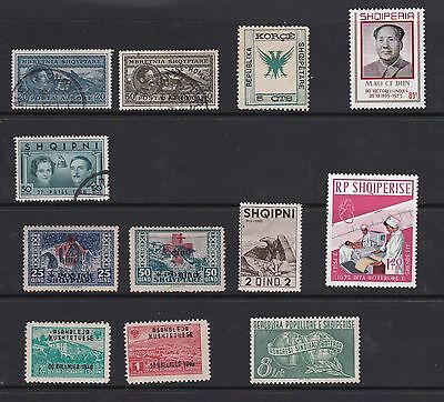 small group of old Albanian stamps Cat. more than £100