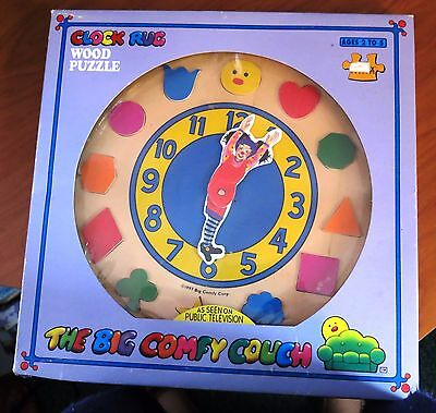 RARE HTF Vtg 1997 Big Comfy Couch Clock Rug Wood Puzzle NEW Loonette