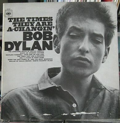 Bob Dylan - The Times They Are A-Changin' - Ex Vinyl Lp - Early Pressing
