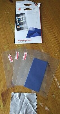 Griffin iPod Touch Screen Care Kit. 3 Screen Protectors.