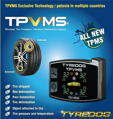 New 2 Wheel TPMS TD4100A-X Tyredog Tyre Pressure Monitor System Free Shipping
