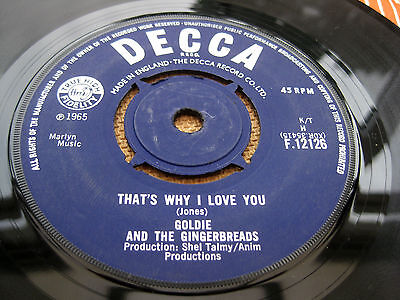 """Goldie And The Gingerbreads THATS WHY I LOVE YOU 1965 Freakbeat UK 7"""" NEAR MINT"""