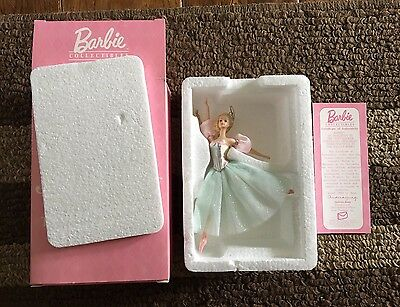 A Barbie 1999 Porcelain Ornament Marzipan In The Nut Cracker 3Rd In Series