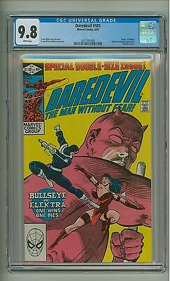 "Daredevil 181 (CGC 9.8) White pages; ""Death"" of Elektra; Frank Miller (c#14359)"