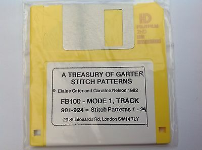 A Treasury of Garter Stitch Patterns FB100 Floppy Disc - by Elaine Cater