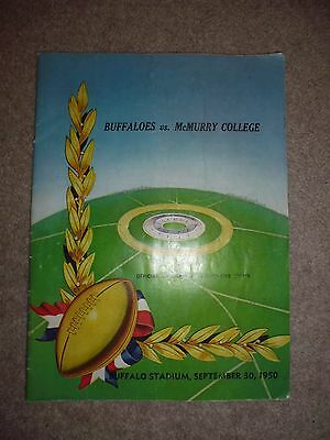 VINTAGE, BUFFALOES vs. McMURRY COLLEGE 30/09/1950 AMERICAN FOOTBALL PROGRAM