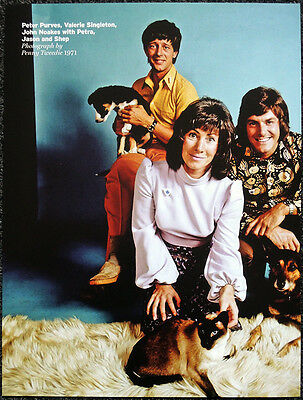 Blue Peter Poster Page 1971 Peter Purves John Noakes Valerie Singleton . R133