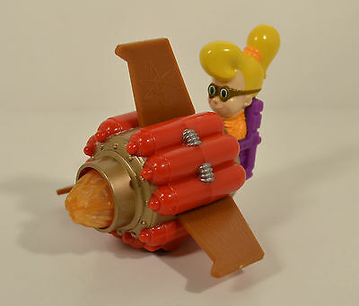 "2002 Hot Rod Cindy Rocket Tail 4.25"" Burger King Action Figure Jimmy Neutron"