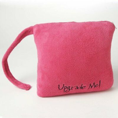 Miamica Pink Travel Pillow Blanket Combo Fleece Soft Airplane Upgrade Me Snap