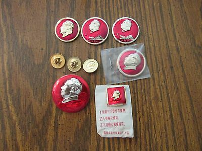 Mao Button lot Chinese Cultural Revolution anti war Communism  collection