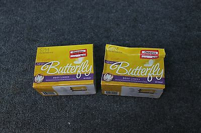 2 Packs Butterfly Pads Body Liners for Bowel Leaks Women's S/M 56 Count