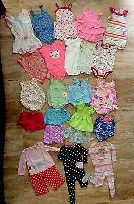 Toddler Baby Girl Clothes Size 12 Months Summer Outfits ~Lot Of 28~
