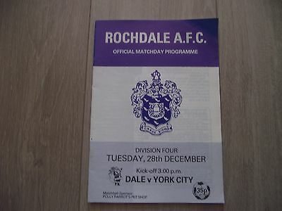 1982-83 Rochdale v York City - Division 4