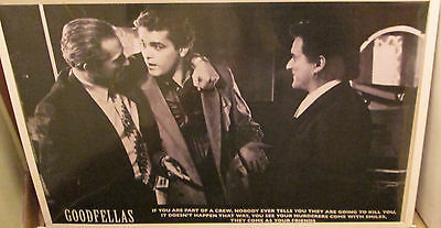 Goodfellas Poster Spectacular New Vintage Rare Oops Deniro Pesci Gangsters