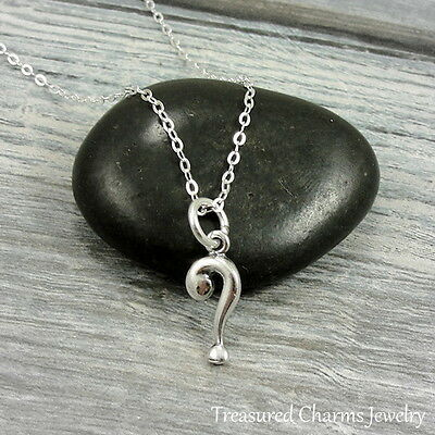 925 Sterling Silver Question Mark Charm Necklace - Journey Free Spirit Jewelry