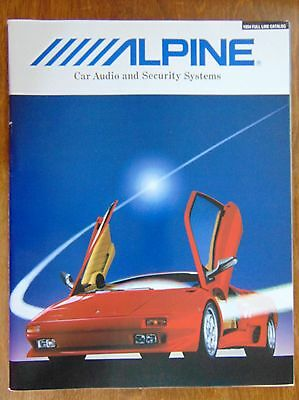 1994 Alpine Car Audio and Security Systems, Full Line Catalog