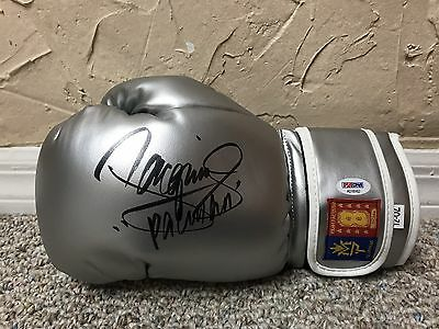 "MANNY ""PACMAN"" PACQUIAO SIGNED AUTO MP8 SILVER LEFT BOXING GLOVE PSA Mayweather"