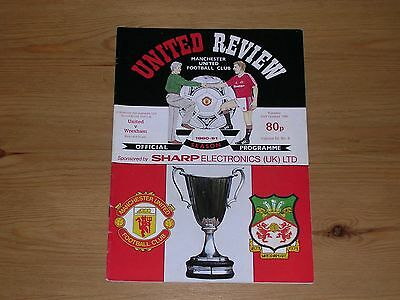 1990/91  MANCHESTER UNITED v WREXHAM  EUROPEAN CUP WINNERS CUP 2ND ROUND 1ST LEG