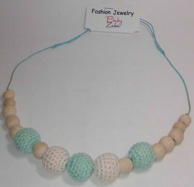 Baby Teething Necklace with Wooden Beads | BPA Free | Provides Immediate Relief