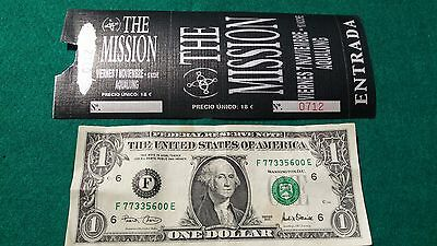 UNUSED Ticket Rare   THE MISSION    FREE SHIPPING