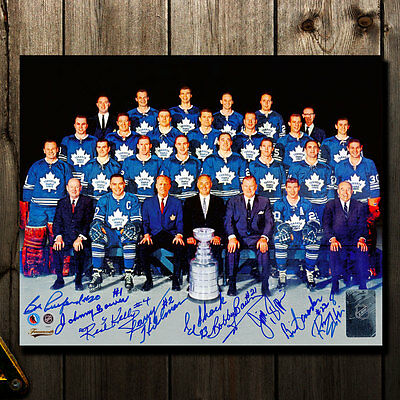 1967 Toronto Maple Leafs Stanley Cup Team Autographed 8x10 Signed by 9 /67
