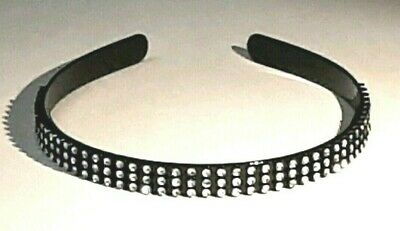 New Black Bling Headband Silver Diamante Sparkly Party Summer girls Alice band