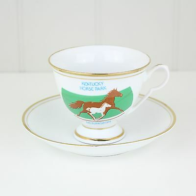 Vtg Kentucky Horse Park Lexington Cup & Saucer M.I. China Equestrian Equine Foal