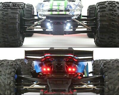 LED Lights Front And Rear For Traxxas E-REVO 1/10 waterproof by murat-rc