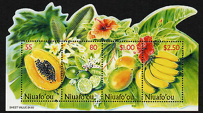 Niuafo'ou, Scott # 233, Souvenir Sheet Of The Tropical Fruit, Scarse Item, 2001
