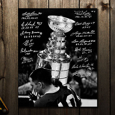Toronto Maple Leafs All-Time Stanley Cup Champions Autographed 16x20