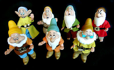 "Vintage Disney 7 Dwarfs 4.1/2"" Articulated Dolls, Made in China by Simba"