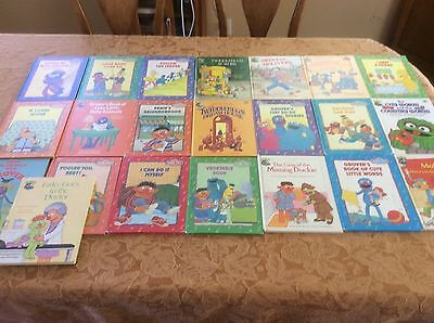 Lot of 22 Sesame Street Book Club Children's Hardcover Vintage Books