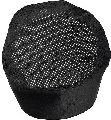 1 x Chefs hat skull cap  black ventilated adjustable rear strap   100 % cotton