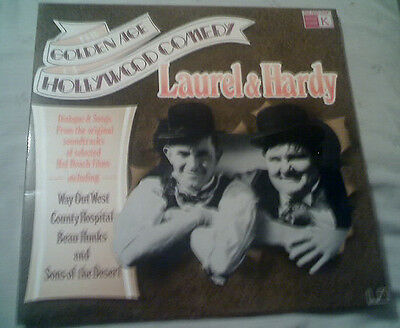 Laurel & Hardy The Golden Age Of Hollywood Comedy Vinyl Lp Excellent