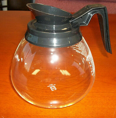 12 Cup Commercial Coffee Pot/Carafe/Decanter for Bunn Brewers - Regular (Blk)