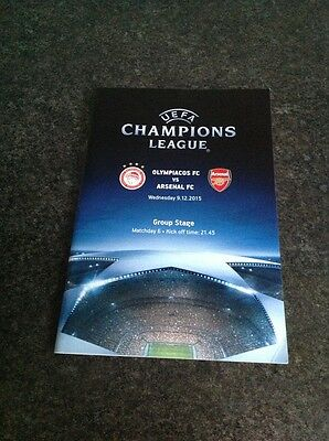 Olympiacos v Arsenal Programme and Greek Newspaper 2015/16