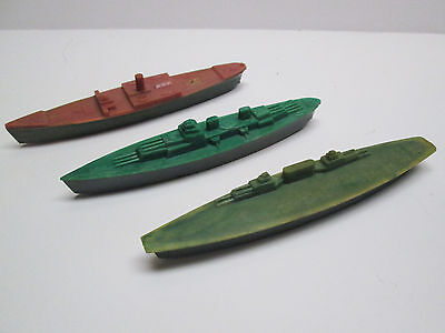 Early 1950'S THOMAS TOYS PLASTIC WARSHIPS WW II BATTLESHIP AIRCRAFT CARRIER ETC.