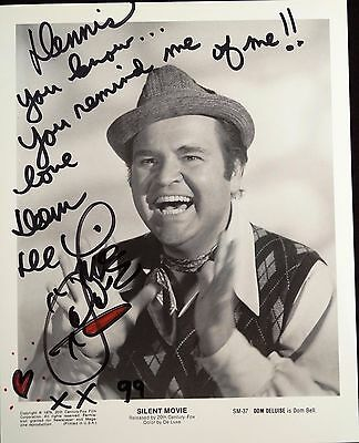 Dom DeLuise Autographed  Signed 8 x 10 Photo Guaranteed Authentic !
