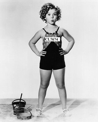 Shirley Temple Posing in a Bathing Suit Photo