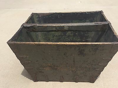 Antique Vintage Asian Chinese Wooden Rice Bucket Basket Bin