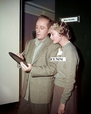 Bing Crosby Signs His Record for Grace Kelly on Movie Set of 'The Country Girl'